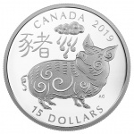 Canada: Lunar year is celebrated in 2019 with the Pig featured on new silver Proof coins