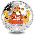 Sierra Leone: Angry Birds have some fun during the Lunar Year of the Pig with new colour crown coin