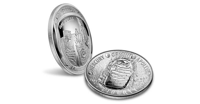 2019 2 Coin Domed Apollo 11 Moon Landing 50th Anniversary US RAM SET