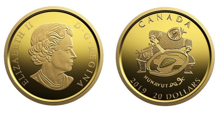 Королевский монетный двор Канады выпустил новые золотые монеты,  посвященные 20-летию создания  территории Нунавут