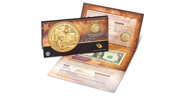 2017 P/&D Native American $1  Golden Dollar Set