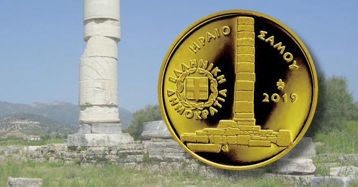 Greece New Gold Coin Features Temple Of Hera As Part Of Popular Cultural Heritage Series Coin Update
