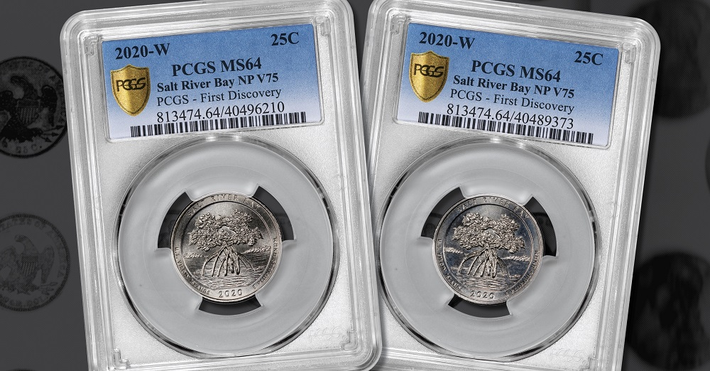 2020 S Salt River Bay NP Quarter 25c NGC MS 67 First Releases