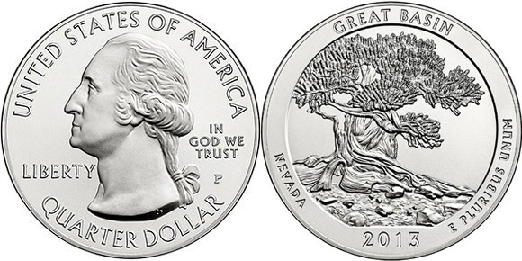 Great Basin National Park Silver Coin