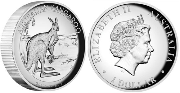 2013 High Relief Kangaroo Silver Coin