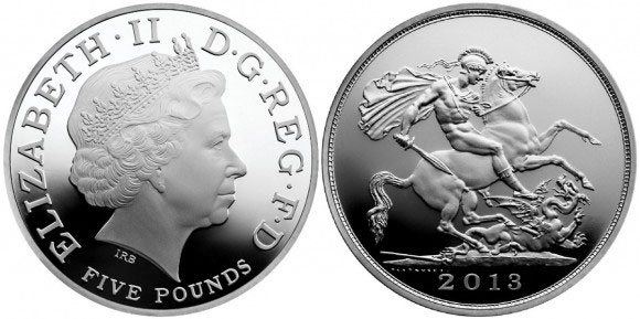 Royal Birth Five Pound Silver Coin