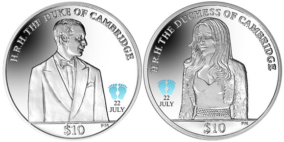 BVI 2013 Royal Baby Coins