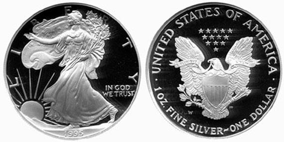 1995 W Proof Silver Eagle