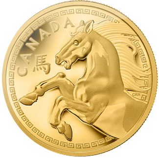 Year of the Horse Gold Kilo coin