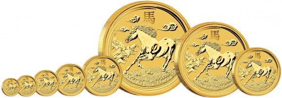 2013 Year of the Horse Gold Coins