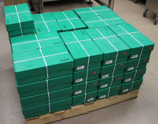 pallet of American Silver Eagle monster boxes