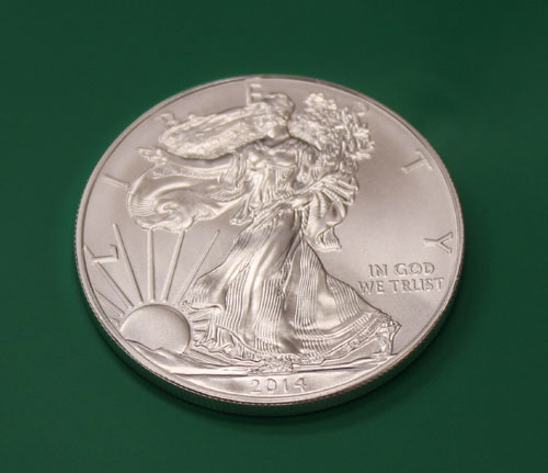 Just minted 2014 American Silver Eagle bullion coin