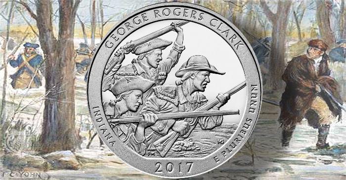 """2017 GEORGE ROGERS CLARK INDIANA /""""ATB/"""" NATIONAL PARK QUARTERS 20P//20D UNCIRCULA"""