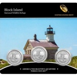 2018 Block Island National Wildlife Refuge Quarter, Three-Coin Set to be released November 27