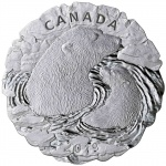 Canada: Unique glacial-shaped silver coin features Arctic region and the life of the polar bear