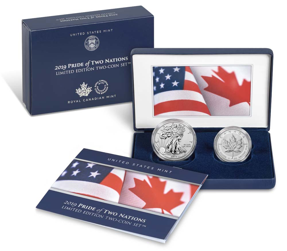 Us Canada Pride Of Two Nations Set Special Ngc Label And
