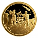"Israel: 23rd coin released in ongoing ""Biblical Art"" series featuring the story of the 12 Spies"